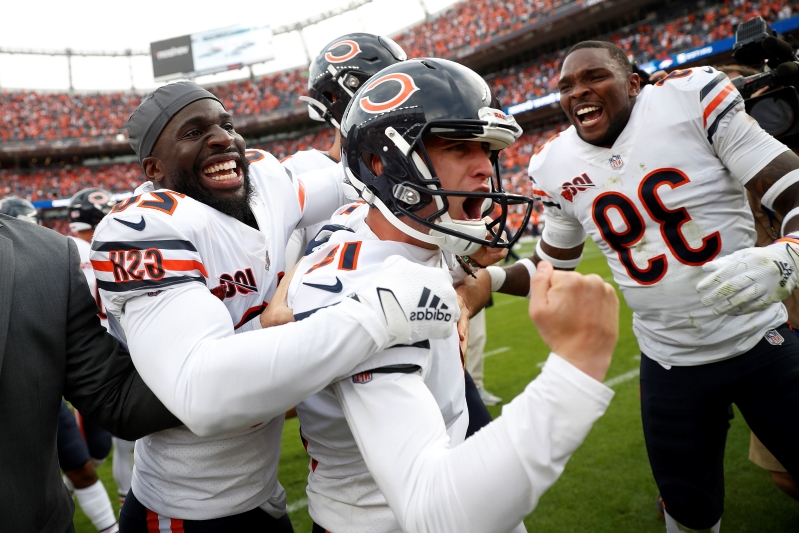Bears K Eddy Pineiro concludes chaotic, controversial ending with game-winner over Broncos