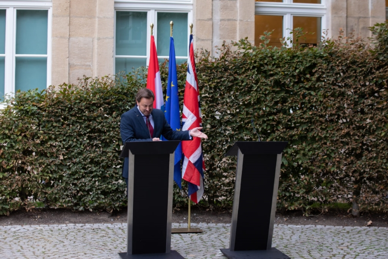 Boris Johnson is being ridiculed after skipping press conference with Luxembourg's gay prime minister