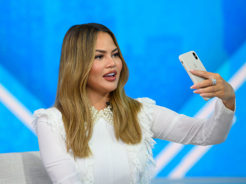 Chrissy Teigen quickly deleted a tweet that revealed her email address, but not before fans noticed and started FaceTiming her