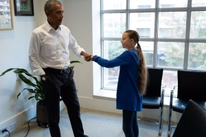 Greta Thunberg met Barack Obama and people are obsessed