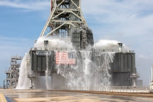 NASA's new launch pad can shoot out 1,000,000 gallons of water a minute