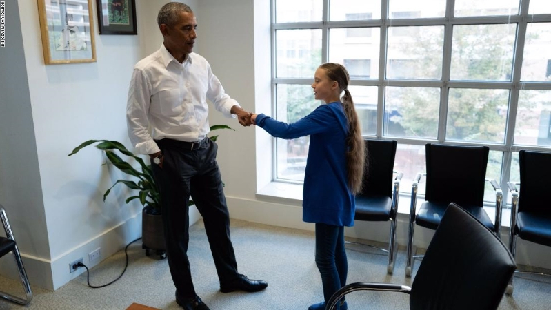 Obama meets with teen climate activist: 'She's unafraid to push for real action'