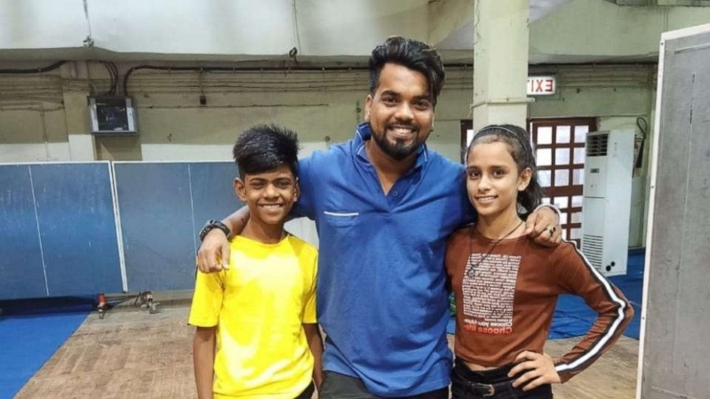 Olympian helps young Indian duo with viral video score gymnastics scholarships