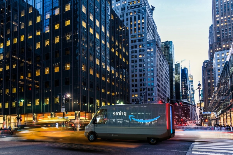 Tall City Delivery >> News Rivian S New Amazon Delivery Vans Look Adorable