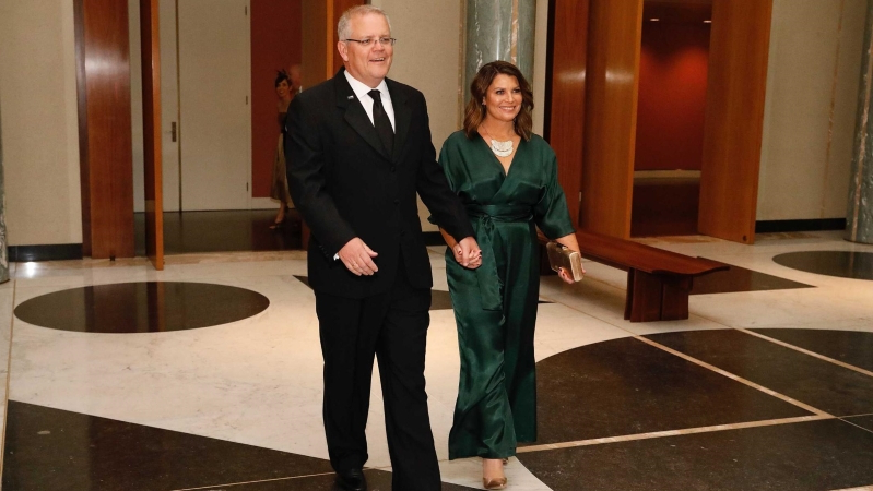 Scott Morrison references Engadine Maccas incident as Canberra's Midwinter Ball comes out from behind closed doors