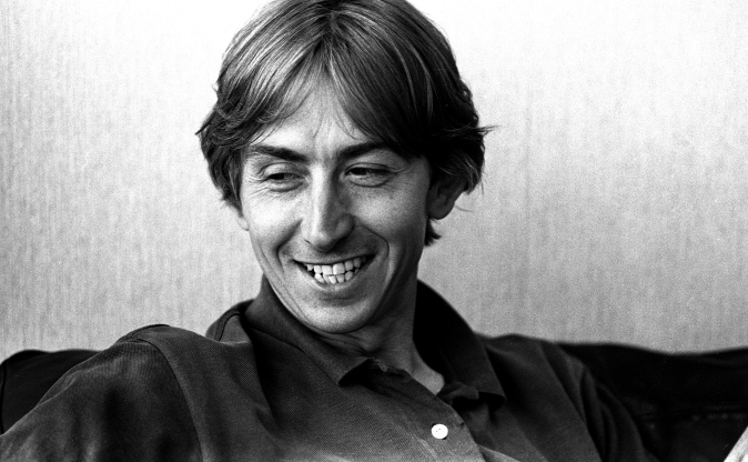 Slide 124 of 163: Talk Talk singer Mark Hollis, portrait, London, United Kingdom, 1990. (Photo by Martyn Goodacre/Getty Images)