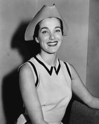 Slide 136 of 163: American actress Julie Adams wearing a tricorn-style hat, 1954. (Photo by Silver Screen Collection/Getty Images)