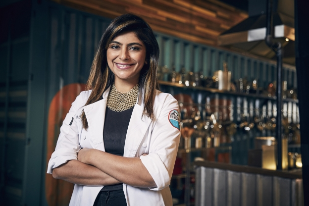 Slide 142 of 163: TOP CHEF -- Season:15 -- Pictured: Fatima Ali -- (Photo by: Tommy Garcia/Bravo/NBCU Photo Bank via Getty Images)