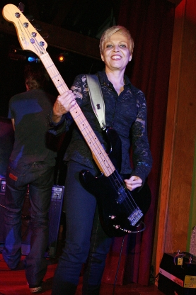 Slide 150 of 163: HOLLYWOOD, CA - JUNE 25:  Lorna Doom, original bass player for The Germs performs at the LA Premiere of 'What We Do Is Secret' after party at club Element on June 25, 2007 in Hollywood, California  (Photo by Trish Tokar/Getty Images)