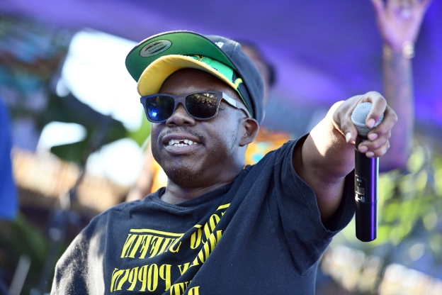Slide 55 of 163: LOS ANGELES, CA - AUGUST 05:  Rapper Bushwick Bill of The Geto Boys performs onstage during Beach Goth Festival at Los Angeles State Historic Park on August 5, 2018 in Los Angeles, California.  (Photo by Scott Dudelson/Getty Images)