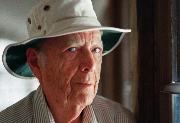 Slide 64 of 163: FILE - This May 15, 2000, file photo, shows Pulitzer Prize-winning author Herman Wouk in Palm Springs, Calif. Wouk died in his sleep early Friday, May 17, 2019, according to his literary agent Amy Rennert. He was 103. (AP Photo/Douglas L. Benc Jr., File)