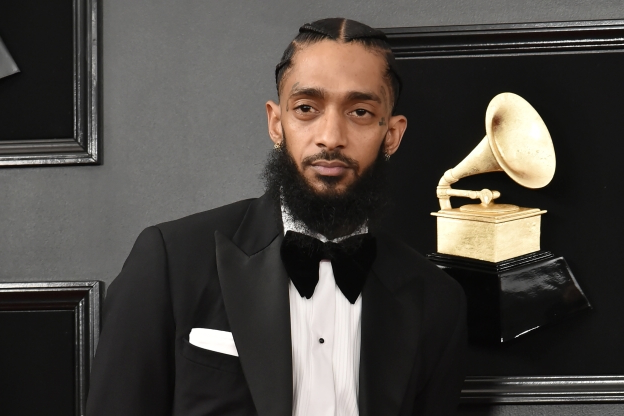 Slide 94 of 163: LOS ANGELES, CALIFORNIA - FEBRUARY 10: Nipsey Hussle attends the 61st Annual Grammy Awards at Staples Center on February 10, 2019 in Los Angeles, California. (Photo by David Crotty/Patrick McMullan via Getty Images)