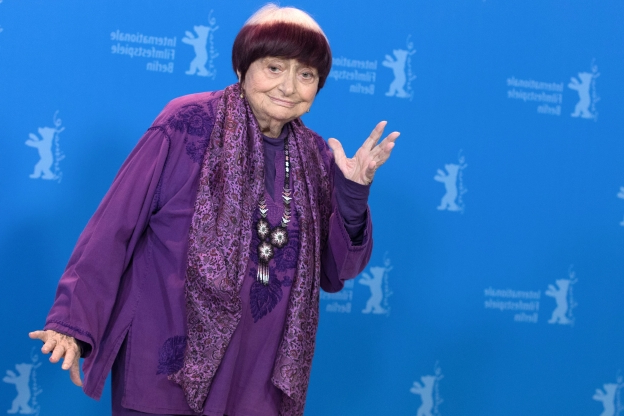 Slide 97 of 163: 13 February 2019, Berlin: 69th Berlinale: Photocall competition 'Varda par Agnes' (Varda by Agnes): Agnes Varda, director. Photo: Jörg Carstensen/dpa (Photo by Jörg Carstensen/picture alliance via Getty Images)