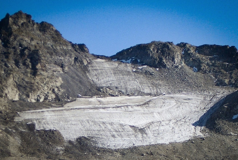 a rocky mountain: Pizol has lost 80-90 percent of its volume just since 2006, leaving behind a mere 26,000 square metres (280,000 square feet) of ice