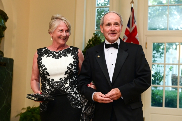 Slide 6 of 16: U.S. Senator James Risch (R-ID) arrives with his wife, Vicki Risch, for a State Dinner for Australia's Prime Minister Scott Morrison at the White House in Washington, U.S. September 20, 2019. REUTERS/Erin Scott