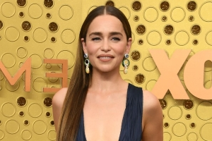 Emilia Clarke Stepped Out in a Daring Plunge Dress at the 2019 Emmys
