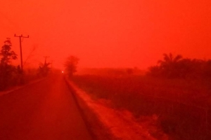 'This is not Mars': Sky in Indonesia turns red