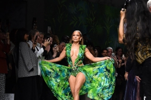 Jennifer Lopez Posts Behind-the-Scenes Footage from Her Incredible Versace Fashion Show Walk