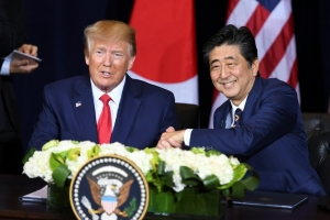 Trump announces the first stage of a trade deal with Japan