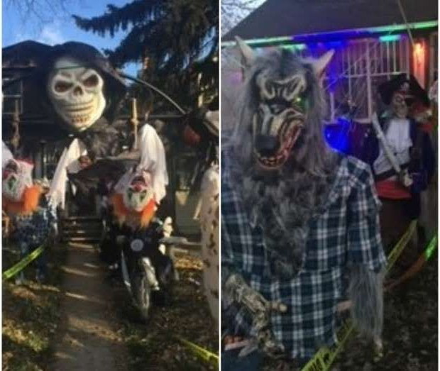 a group of people posing for the camera: Roch Dupont and his family have decorated their home and front yard to the delight of their neighbours around most holidays. This year, though, he says he's giving it up after losing too many items to thieves.