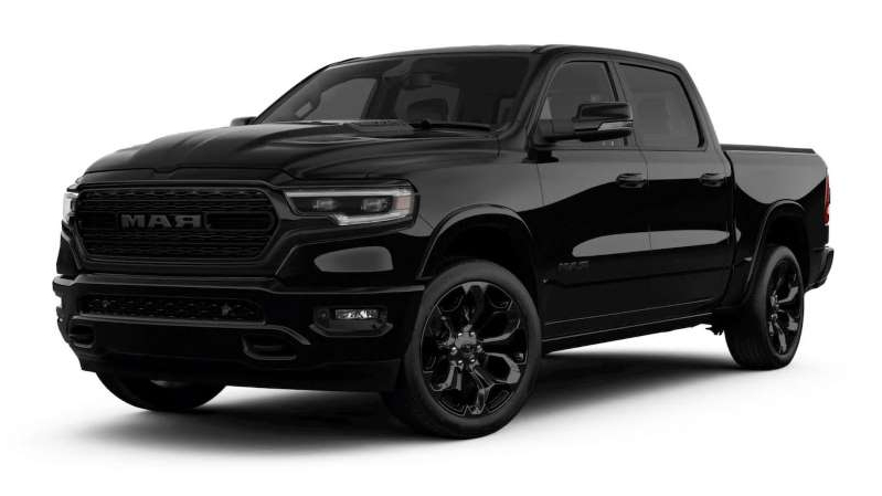 an old black car: 2020 Ram 1500 Limited Black Edition