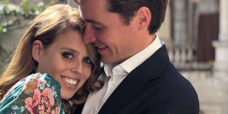 Princess Beatrice of York et al. looking at the camera: Princess Eugenie, who took Beatrice's engagement photos and runs her own official Instagram, shared the first close-up look at the massive diamond engagement ring Mapelli Mozzi gave Beatrice.
