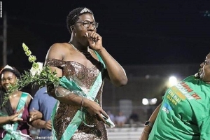Memphis high school senior Brandon Allen wore a dress as he was crowned homecoming royalty