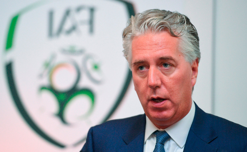 a man wearing a suit and tie: Former FAI chief executive John Delaney Photo: Cody Glenn/Sportsfile