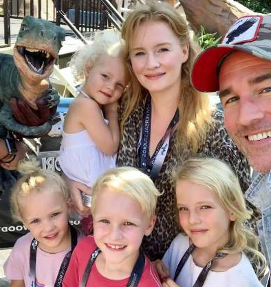 Slide 8 of 83: The Dancing With the Stars competitor brought four of his five kids to Universal Studios Hollywood with his wife during a day off.