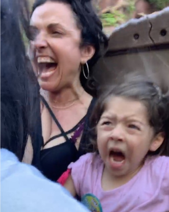 "Slide 80 of 83: The Flipping Out star had a ""mom fail"" when she brought her daughter Alianna, 5, on Splash Mountain at Disneyland. ""Drop #2 didn't go so well,"" Pulos wrote alongside an image of her daughter screaming while on the floom ride."