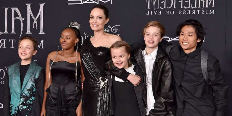 Style Angelina Jolie S Kids Wore Matching Black Outfits For