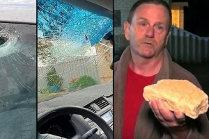 'It felt like a bomb going off': Drivers targeted by rock-throwers on Mandurah Road