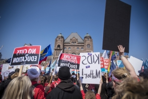 Ontario education workers prepare to begin full strike Monday