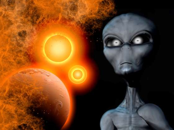 Slide 9 of 13: A Grey Alien from the Zeta Reticuli binary star system.