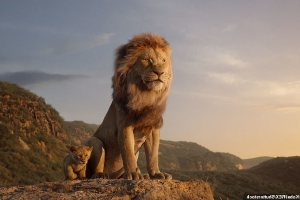 The real Lion King: Photographer travels 2,500 miles to re-create Mufasa's famous gaze over Pride Rock