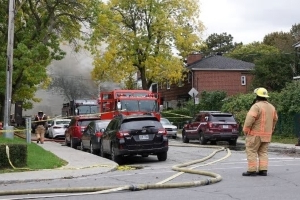 Fire breaks out after explosion in NDG home