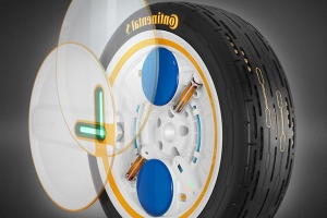 Future tire from Continental ensures ideal tire pressure while rolling