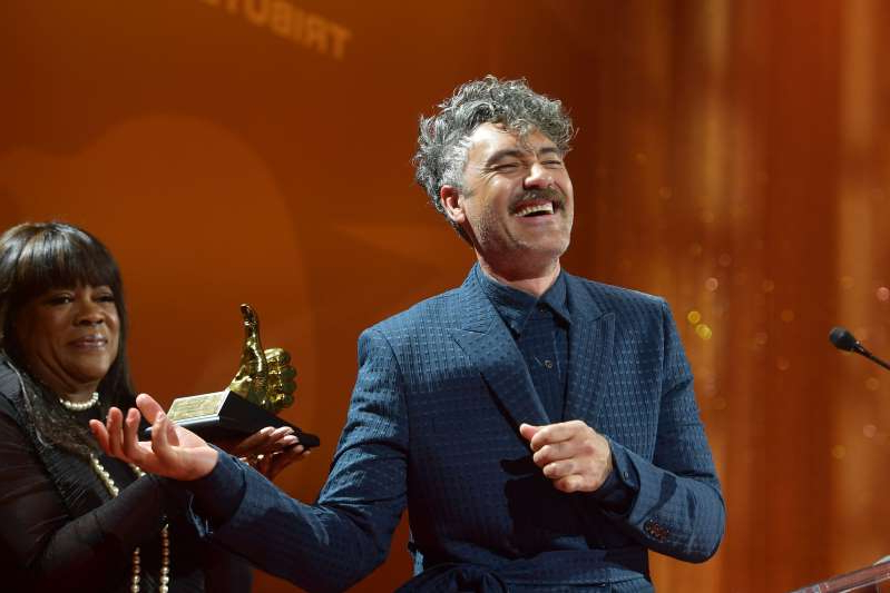 TORONTO, ONTARIO - SEPTEMBER 09: Taika Waititi receives the TIFF Ebert Director Award during the 2019 Toronto International Film Festival TIFF Tribute Gala at The Fairmont Royal York Hotel on September 09, 2019 in Toronto, Canada.