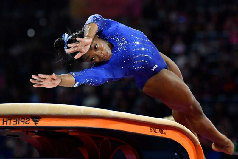Image result for Simone Biles penalized for having skills other gymnasts can't pull off