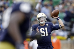 Book throws 5 TDs as No. 9 Notre Dame routs Bowling Green