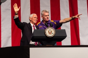 Pence campaigns in Louisiana governor race after Trump pushed runoff