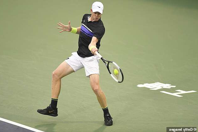 a man hitting a ball with a racket: Edmund has won 12 tour matches in '19 and has exited in round one in last four tournaments