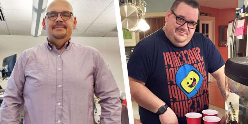a man standing in a room: A Low-Carb Diet Helped This Guy Lose 100 Pounds
