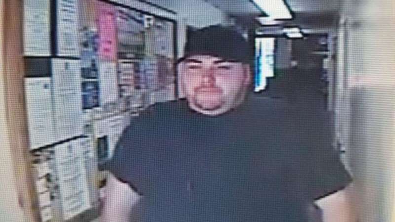 a person standing in a room: Heath Bumpous, of Crockett, Texas, robbed Citizens State Bank in Groveton. Pic: Trinity County Sheriff