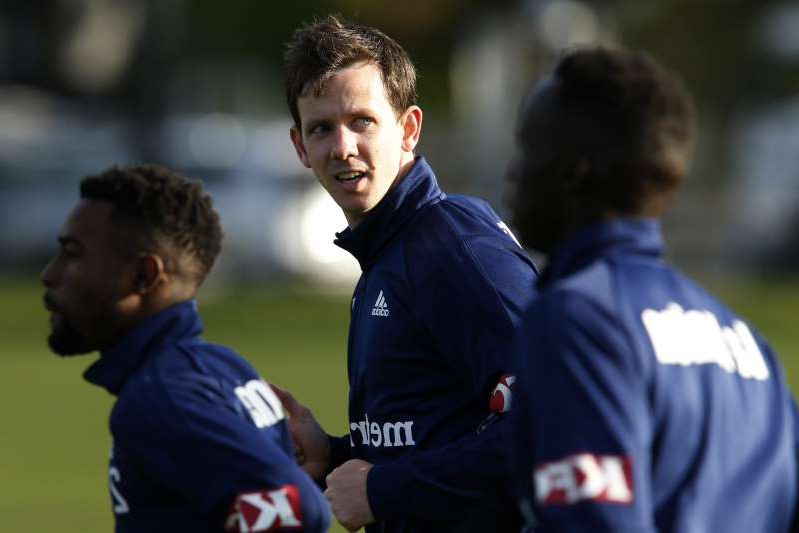 MELBOURNE, AUSTRALIA - JULY 30: Robbie Kruse takes part during a Melbourne Victory A-League training session at Gosch's Paddock on July 30, 2019 in Melbourne, Australia. (Photo by Darrian Traynor/Getty Images)