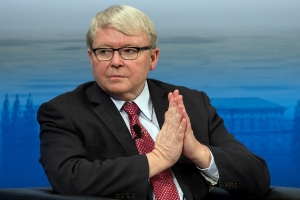 Rudd slams PM's 'crude domestic politics'