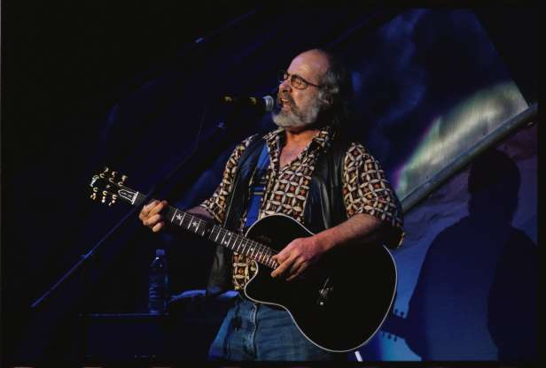 Slide 7 of 172: 8/2/1997-Mountainview, CA: Robert Hunter performing at the Furthur Festival at the Shoreline Amphitheater.