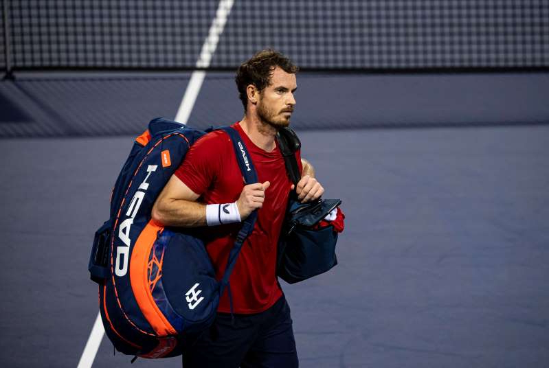 Andy Murray of Great Britain leaves the court after his defeat by Fabio Fognini of Italy in the second round of the Shanghai Rolex Masters at the Qi Zhong Tennis Centre on October 08, 2019 in Shanghai, China.