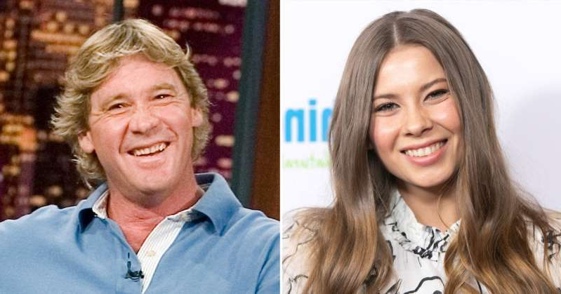 Bindi Irwin, Steve Irwin posing for the camera: Bindi Irwin Will Honor Late Dad Steve Irwin at Her Wedding with Special Candle Lighting Ceremony