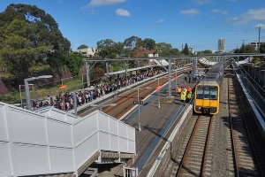 Huge delays on Sydney trains as a man is killed in a station west of the city